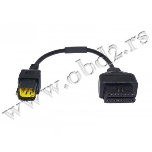 Husqvarna 6 pina OBD2 Adapter (TUNE ECU, iBeat)